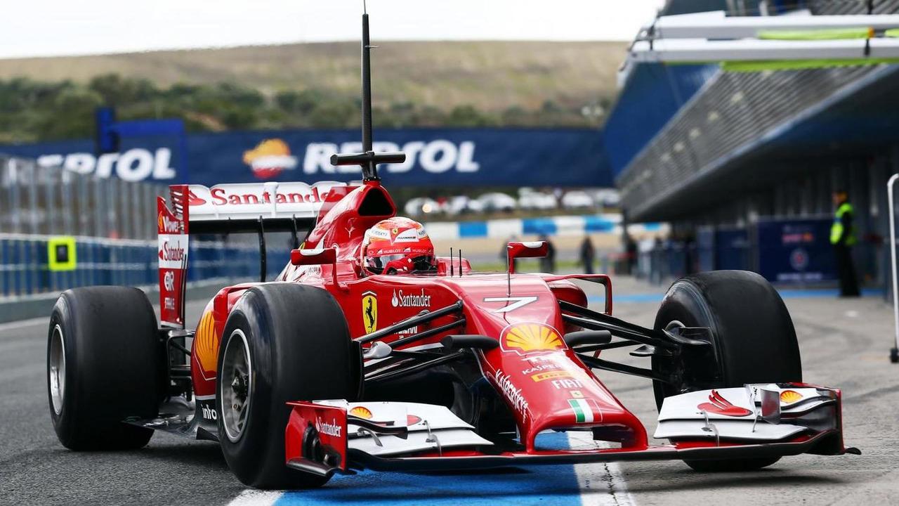 Kimi Raikkonen Ferrari F14-T 29.01.2014 Formula One Testing Jerez Spain