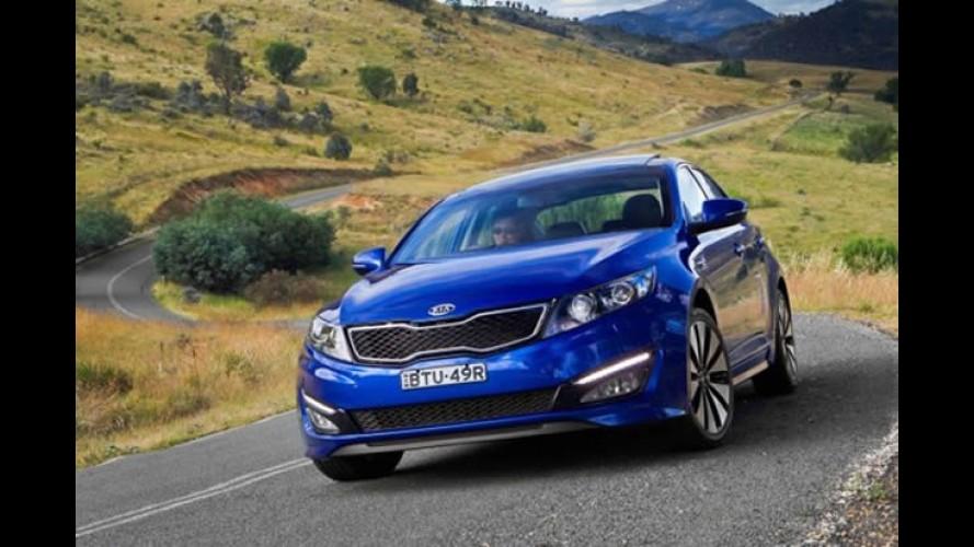 Novo Kia Optima chega à Austrália - Marca não consegue atender demanda