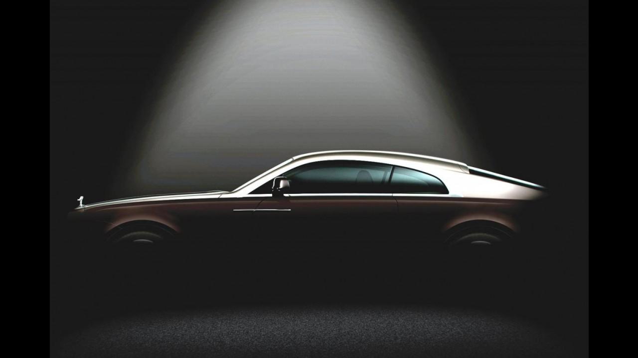 Rolls-Royce divulga teaser do Wraith, modelo mais potente de sua história