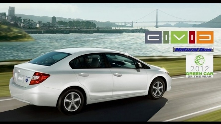 Honda Civic movido a GNV é eleito o carro verde do ano nos Estados Unidos