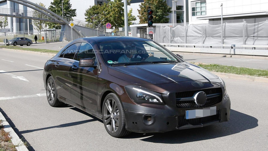 Mercedes-Benz CLA facelift spied up close ahead of March 2016 debut