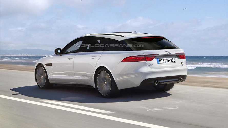 2016 Jaguar XF Sportbrake render shows plausible look