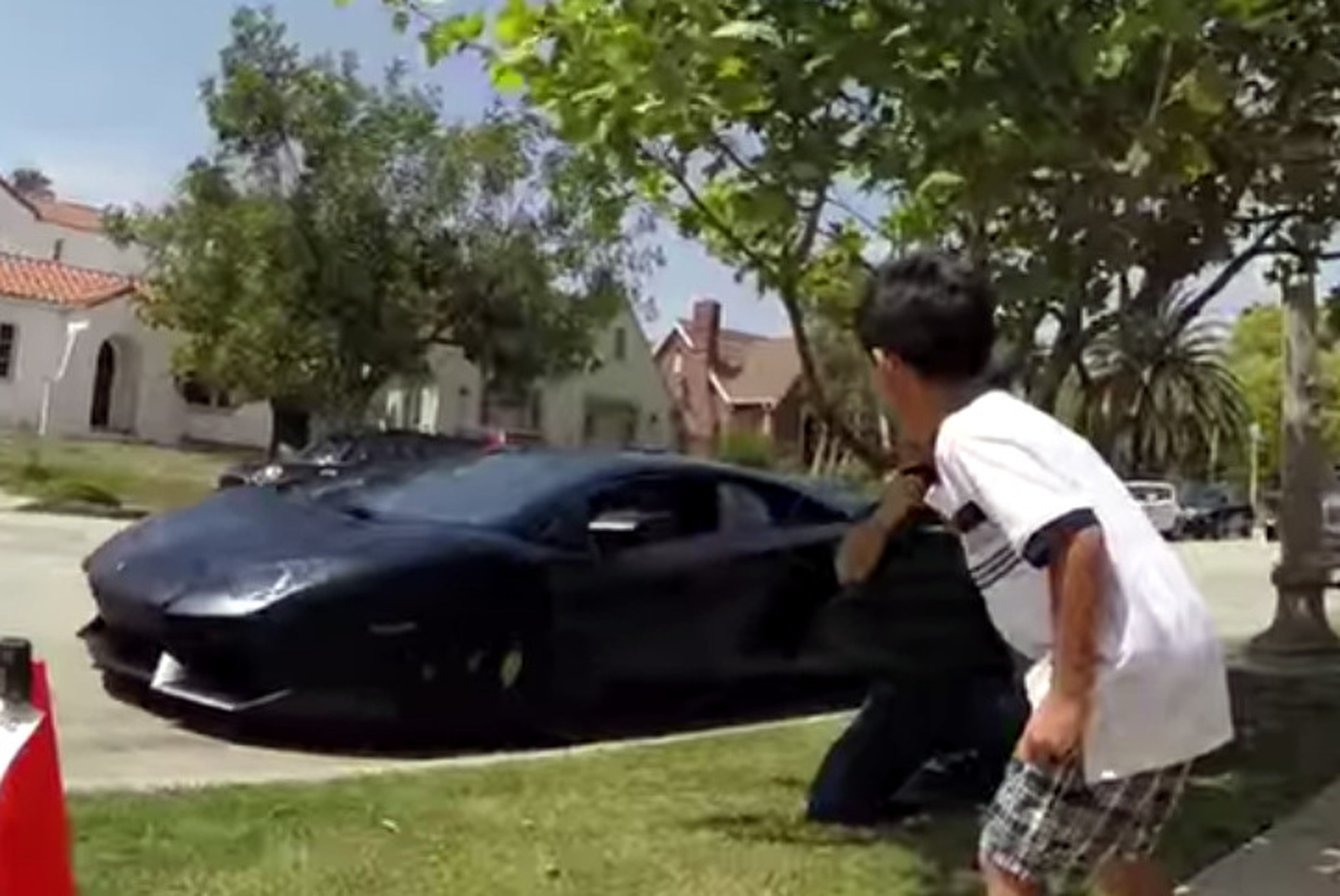 Lamborghini Dealership Crashes Yearold Birthday Party Video - Lamborghini car dealership