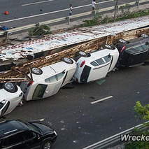 $1.6 Million in Luxury Cars Wrecked in China