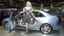 Cadillac BLS with topmodel Adriana Karembeu