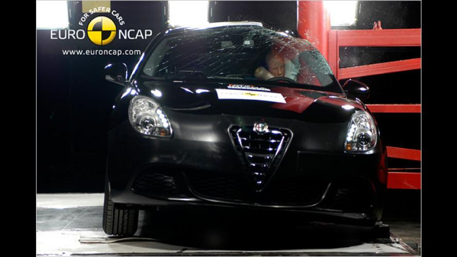 Alfa Giulietta, BMW 5er und Mazda CX-7 im Crashtest
