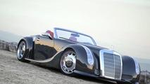 GWA 300 SLC based on 2012 SLS Roadster with 1955 300 SC body revealed