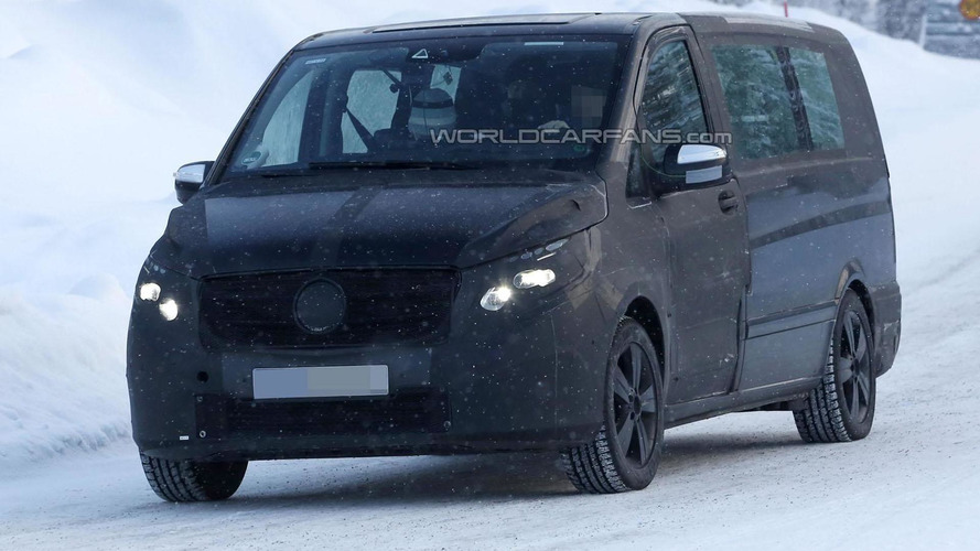 2014 Mercedes Viano spied wearing a production body