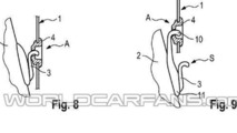 Porsche headrest-mouned wind deflector patent 22.10.2013