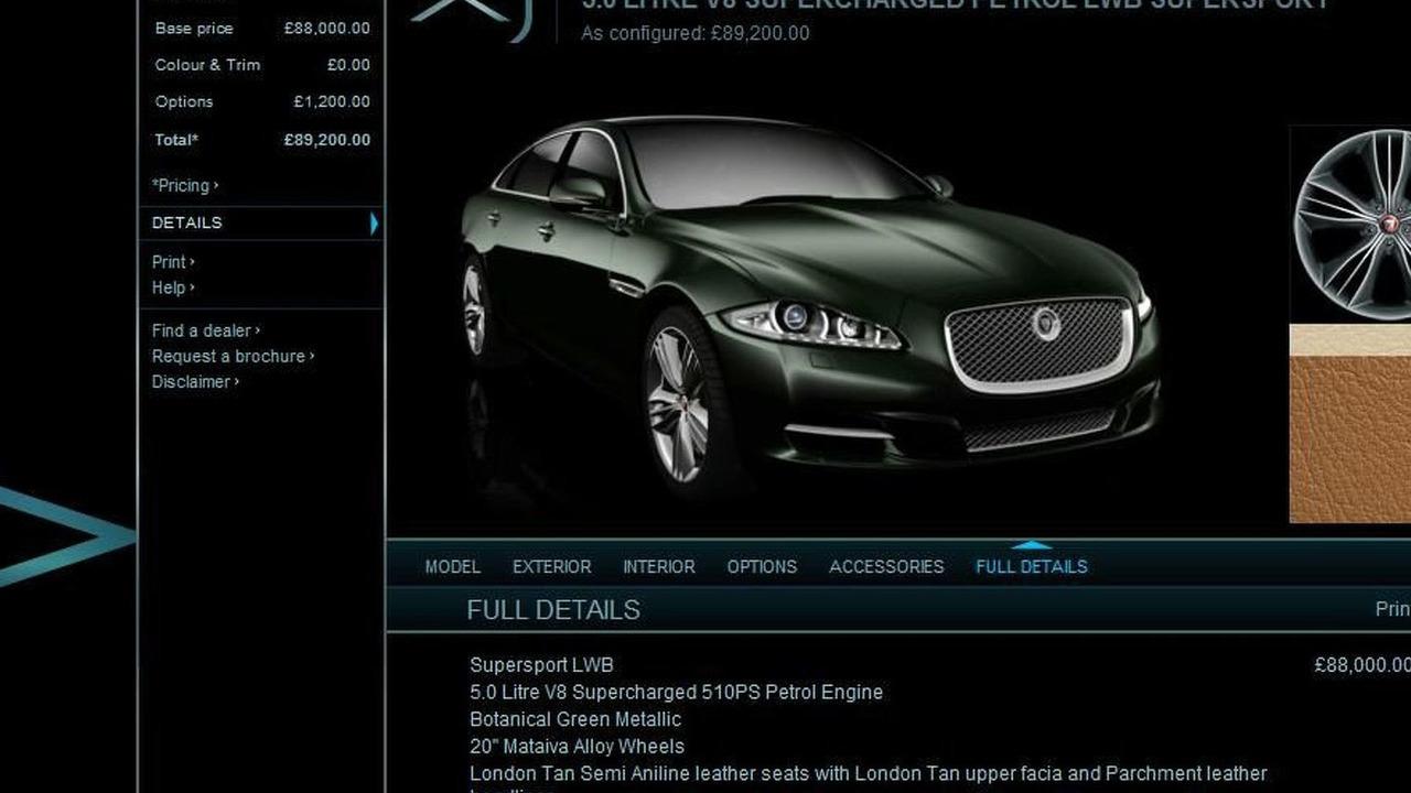 2010 Jaguar XJ Configurator