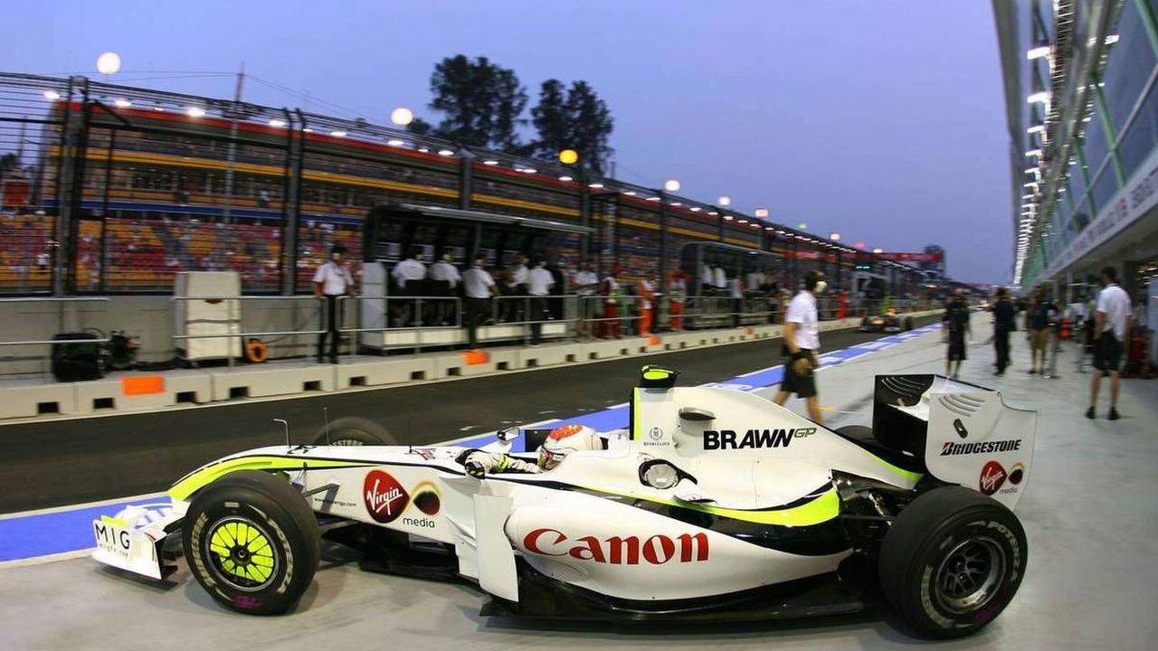 Rubens Barrichello (BRA), Brawn GP, Singapore Grand Prix, 25.09.2009