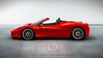 Teamspeed.com rendering of the upcoming 458 Italia Spider