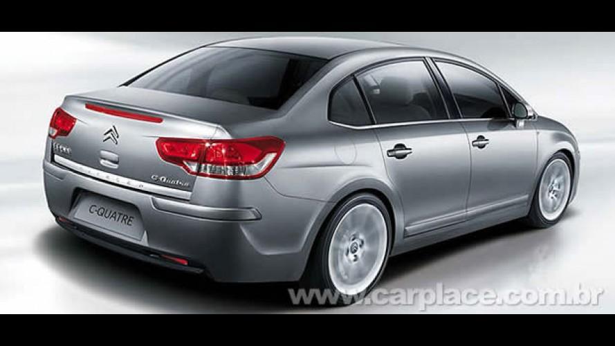 Citroën mostra oficialmente o Novo C-Quattre - Nova versão do C4 Sedan é exclusiva para a China