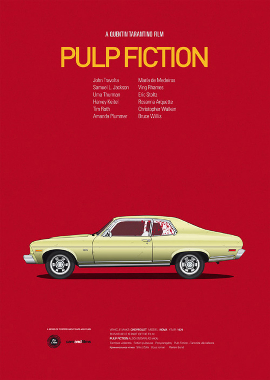 These Movie Car Posters are a Must for Film Buffs