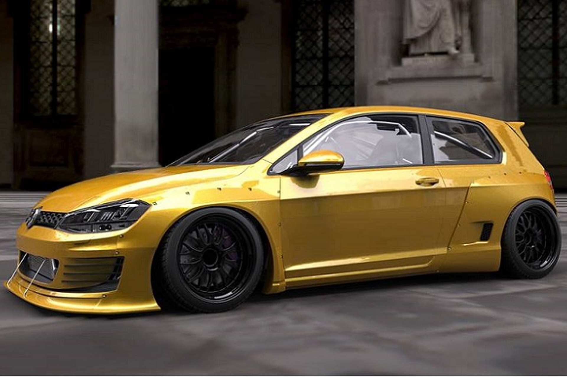 Mk 7 Volkswagen Golf Gets Quot Rocket Bunny Quot Tuner Treatment