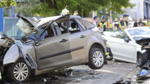 Mercedes baleset