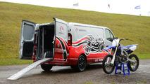 Vauxhall Vivaro Race Van Concept and Yamaha YZ450F