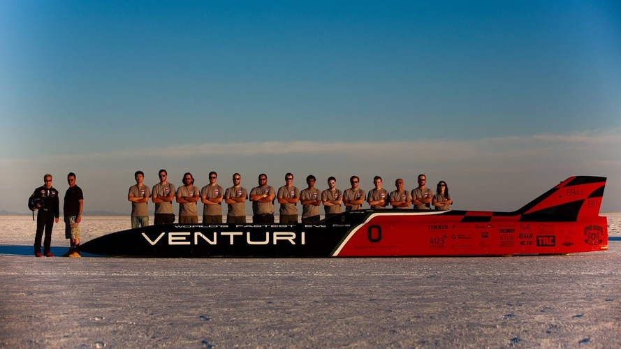 Venturi VBB-3 is the world's fastest electric car at 549 km/h