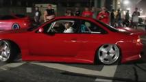 Nissan 240SX burnout dance video h2o