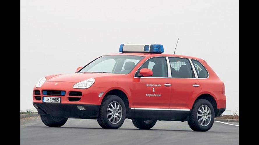 Porsche Cayenne: Voller Einsatz für die Feuerwehr
