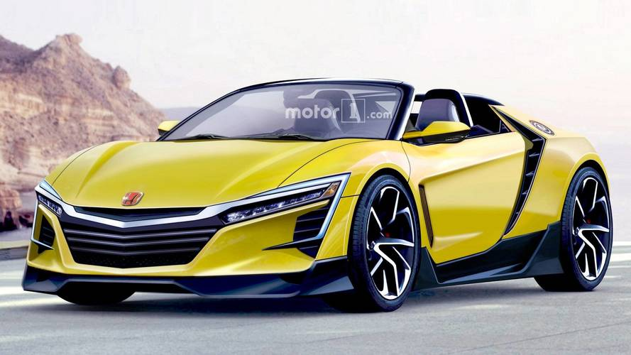 Un rendu d'une hypothétique future Honda S2000