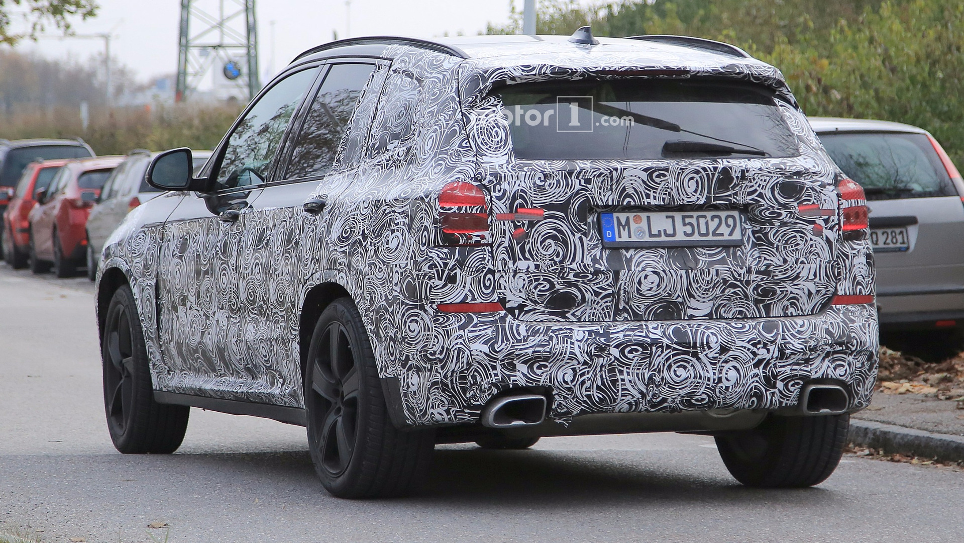 2018 bmw x3 spotted with m sport package and fat exhaust tips. Black Bedroom Furniture Sets. Home Design Ideas