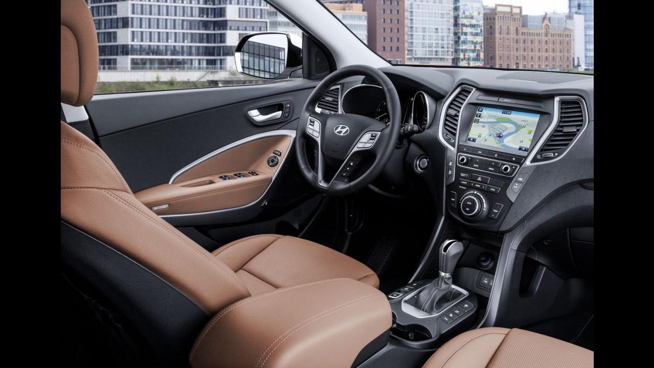 Hyundai Santa Fe 2016 ganha retoque no visual e mais recheio - fotos oficiais
