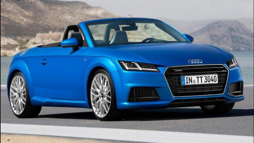 Nuova Audi TT Roadster, scoperta per due