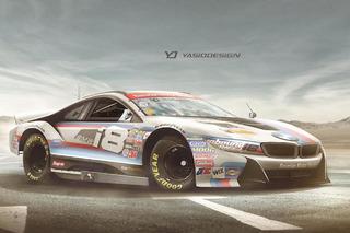 NASCAR Needs a BMW i8 and Land Rover Defender