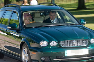 Queen Elizabeth Drives Her Jaguar Wherever She Pleases