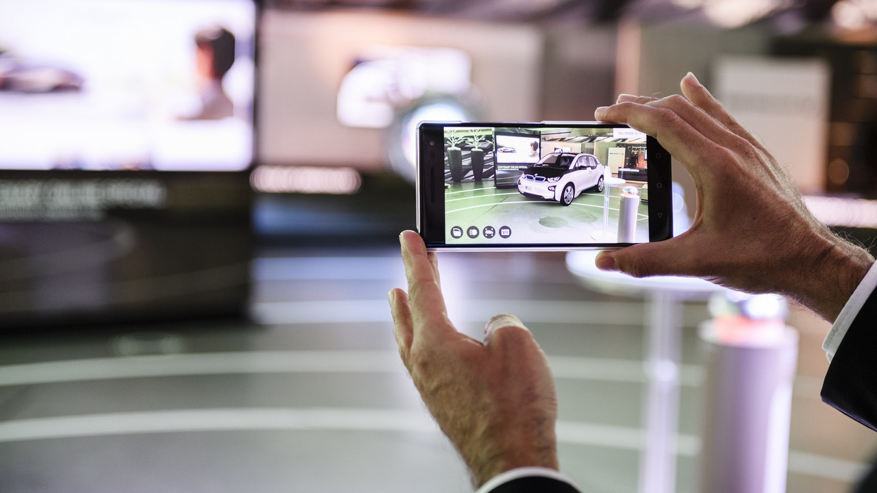 BMW augmented reality product visualizer