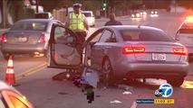 Audi A6 crash in Los Angeles