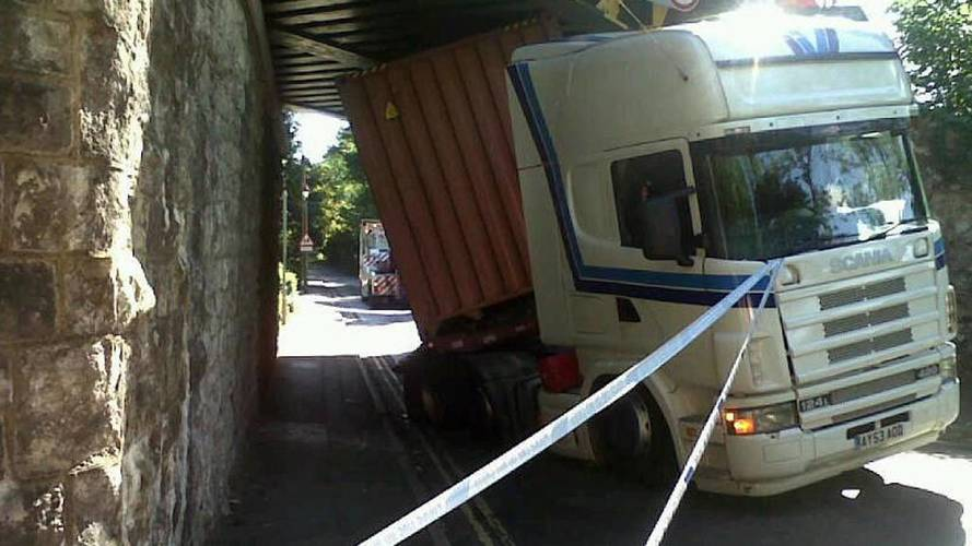 What The Truck?! Semis Hit Rail Bridges Five Times A Day In UK