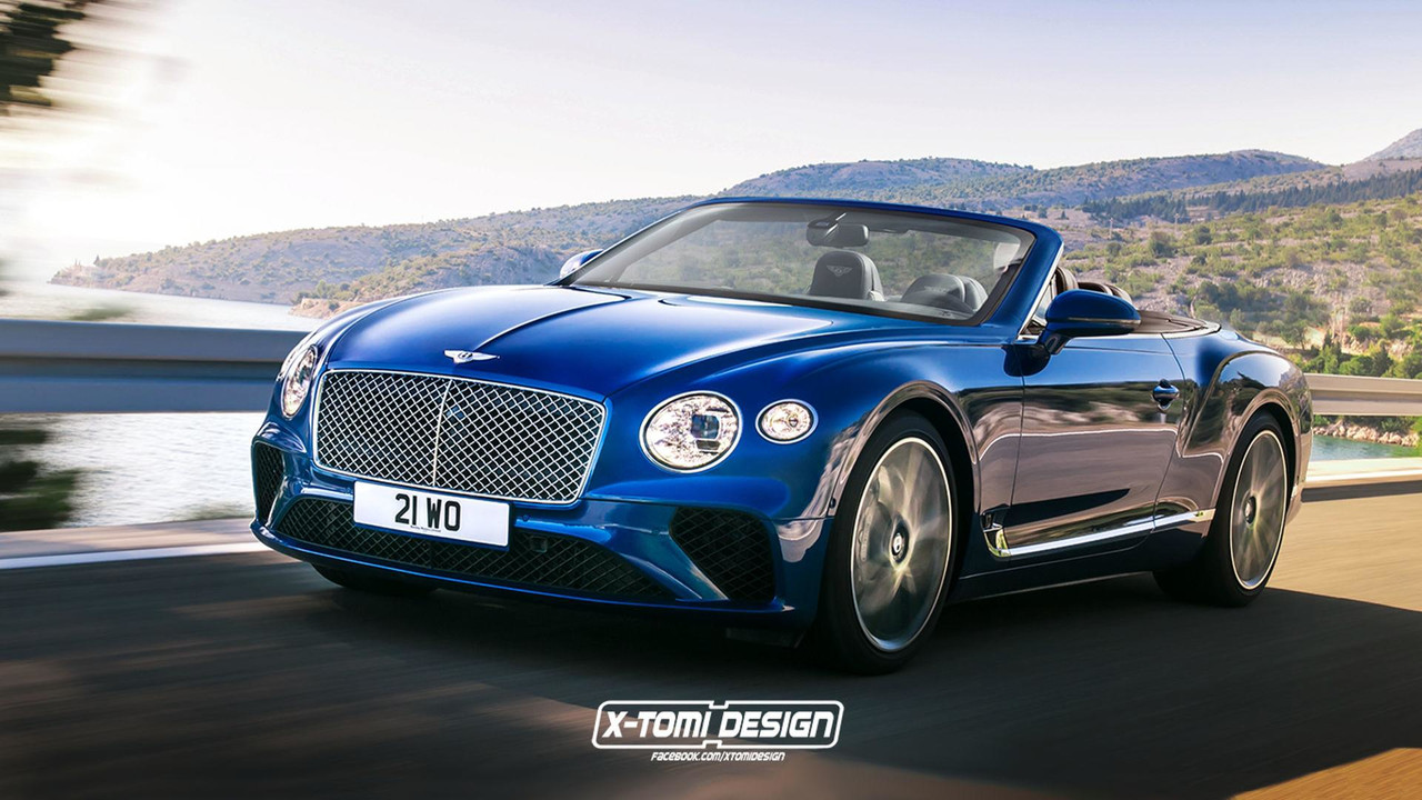 2019 Bentley Continental GTC render