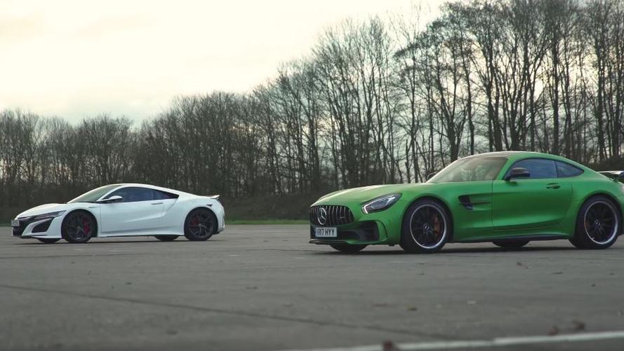 VIDÉO - La Honda NSX anéantit la Mercedes-AMG GT R