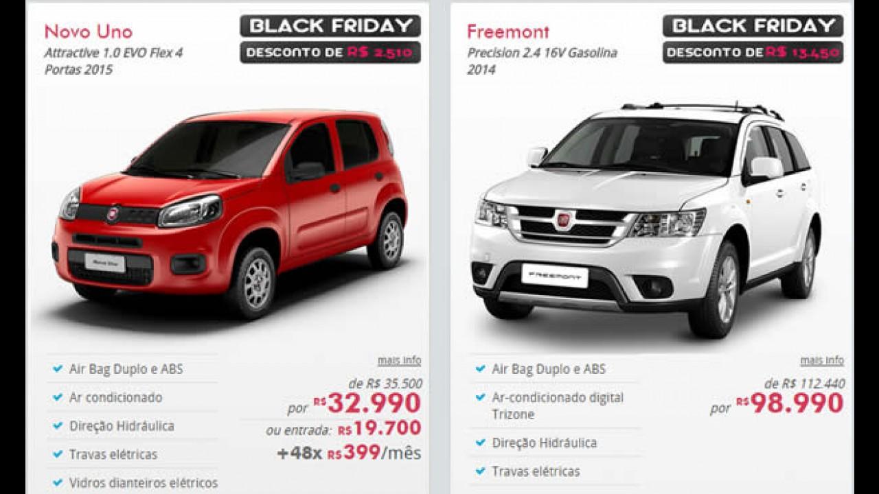 Black Friday: Freemont tem R$ 13 mil de desconto e Uno 1.0 Evo R$ 2.510