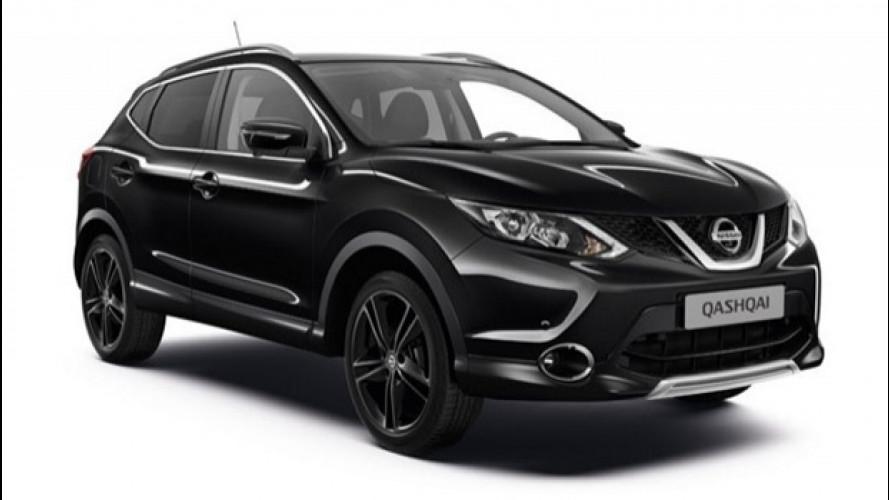 Nissan Qashqai Black Edition, l'eleganza del nero