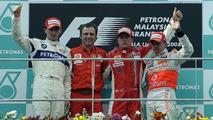 Ferrari celebrates victory in Malaysia 2008