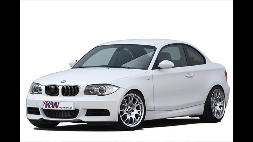 KW bringt das BMW 1er Coupé näher an den Asphalt