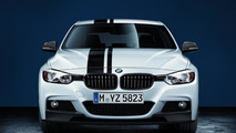 BMW 3 Series with BMW M Performance Parts carbon fiber splitters 17.02.2012