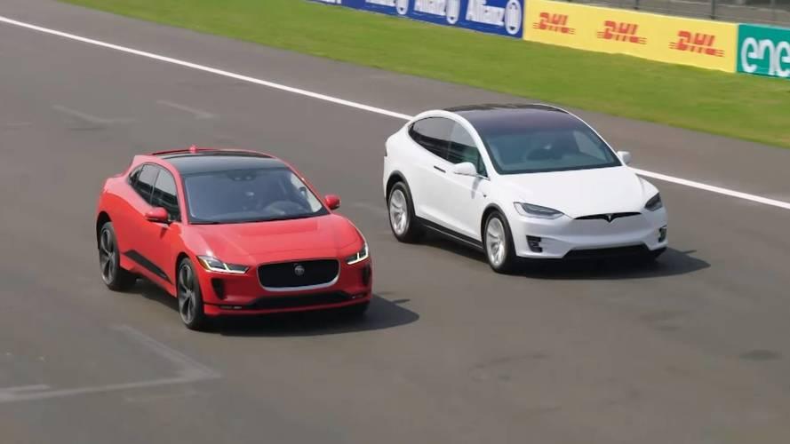 Jaguar Pits I-Pace Against The Tesla Model X 75D, 100D