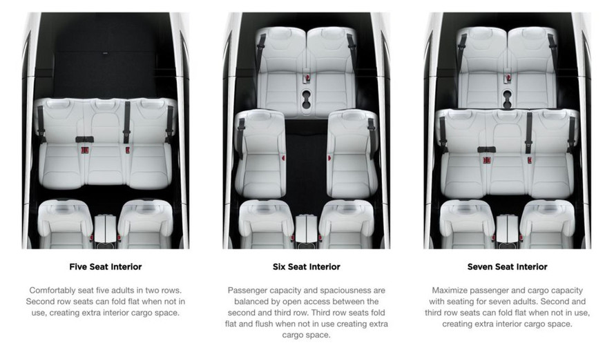 Seven-Seat Tesla Model X Gets Fold Flat Second-Row Seats