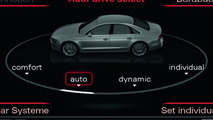 2011 Audi A8 MMI display: Audi drive select menu, 01.12.2009