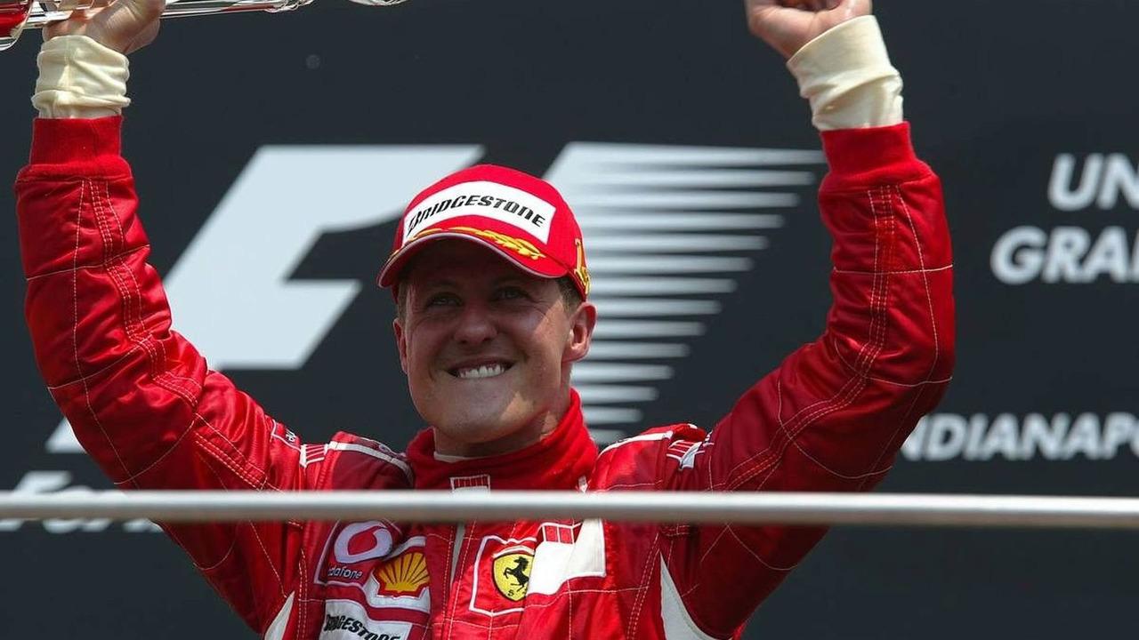 Michael Schumacher (GER), Scuderia Ferrari, United States Grand Prix, Sunday Podium, 02.07.2006 Indianapolis, USA