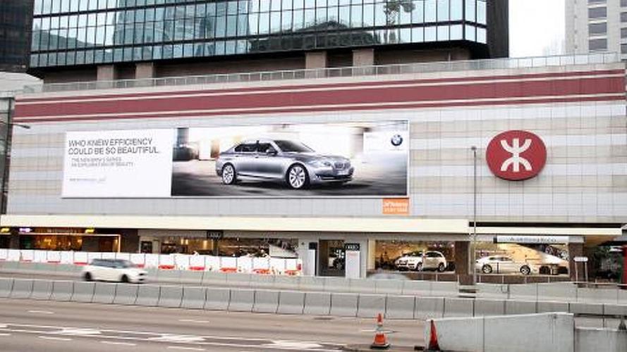 BMW plasters massive billboard above Audi Hong Kong