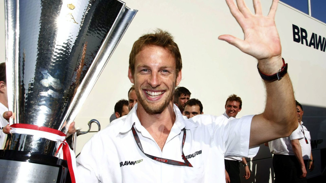 Jenson Button, winner, 2009 Monaco grand prix