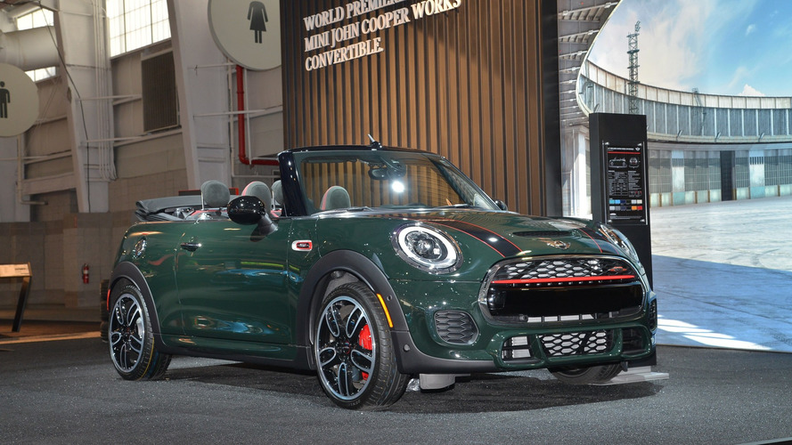 Mini John Cooper Works Convertible makes public debut in New York