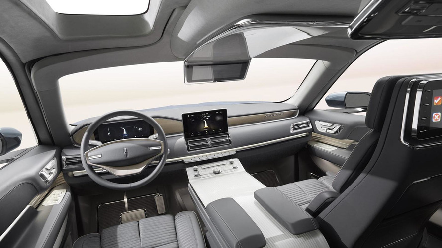 next gen lincoln navigator interior spied with cues from crazy concept