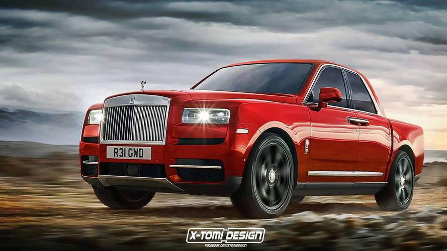 Rolls-Royce Cullinan 2018: renders en formato cabrio, coupé y pick-up