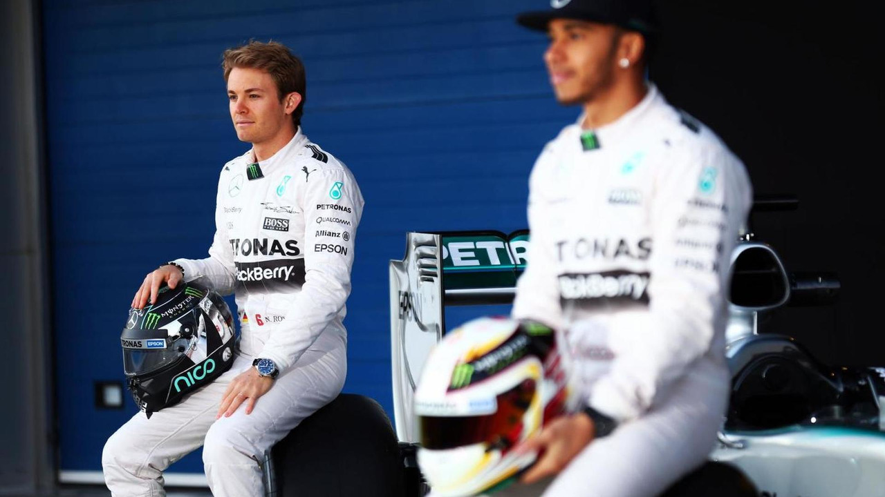 Nico Rosberg (GER) with team mate Lewis Hamilton (GBR) / XPB